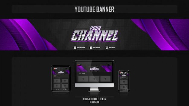 Baner na kanale youtube z koncepcją muzyczną