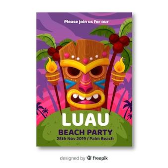 Baner na plaży luau