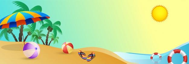 Baner na plaży