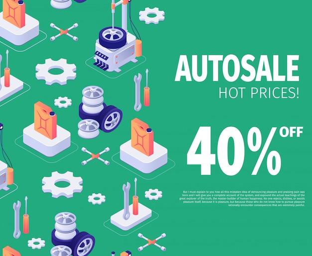 Baner na specjalną ofertę rabatową autosale