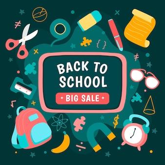 Baner na sprzedaż z powrotem do szkoły