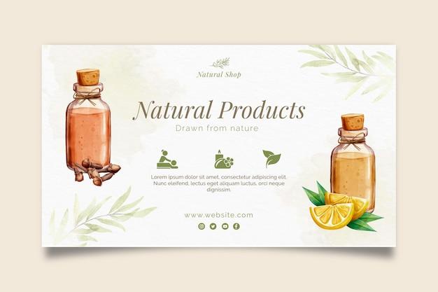 Baner naturalnych produktów kosmetycznych
