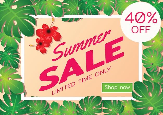 Baner oferty sprzedaży letniej