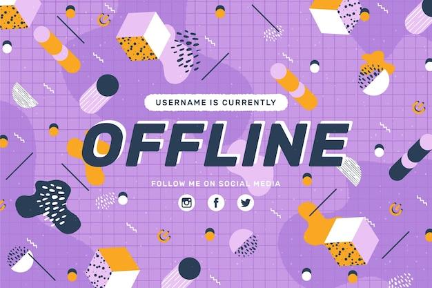 Baner offline w stylu memphis