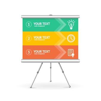 Baner opcji biznesowej. nowoczesny styl pracy dla twojej firmy.