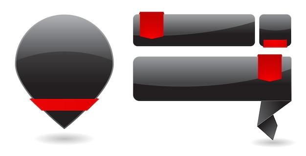 Baner papieru z ikoną tagu