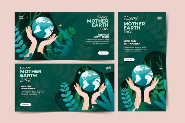 Baner płaski dzień matki ziemi
