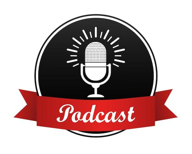 Baner Podcastów Premium Wektorów