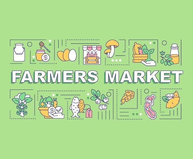 Baner pojęć słowo rynku rolników