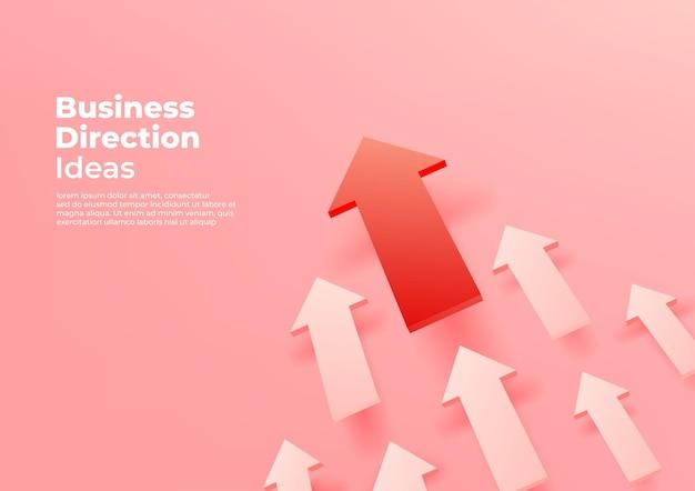 Baner pomysłów na kierunek biznesowy.