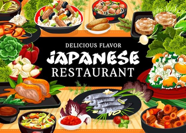 Baner posiłków restauracji kuchni japońskiej