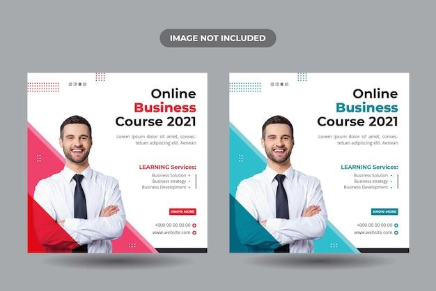 Baner postu na kurs biznesowy online