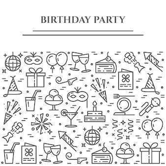 Baner poziomy tematu urodziny.