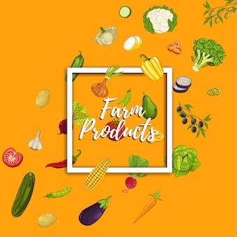 Baner produktu rolnego z warzywami