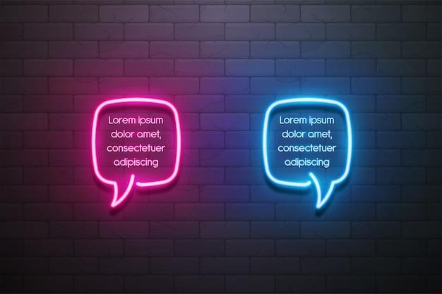 Baner promocyjny dymek światło neon, metka, zniżka
