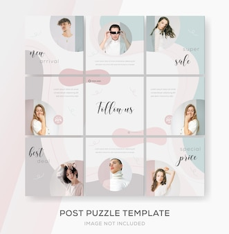 Baner puzzle feed sprzedaż na instagramie