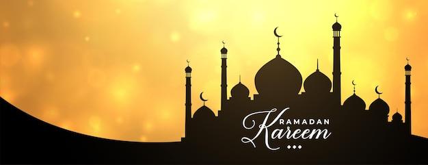 Baner ramadan kareem z projektem meczetu