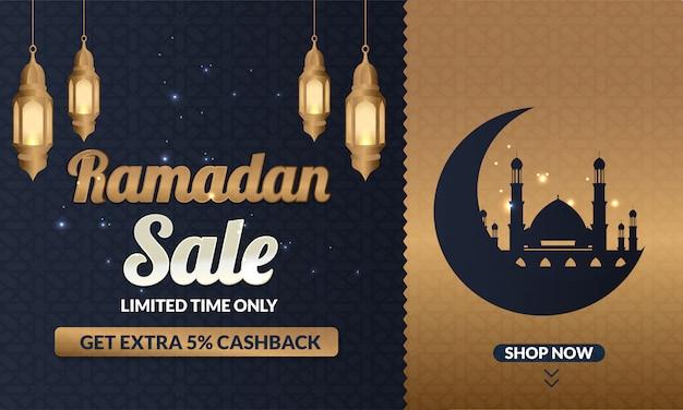 Baner ramadan sale do postu w mediach społecznościowych