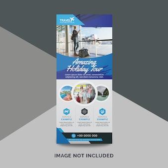 Baner reklamowy biura podróży blue