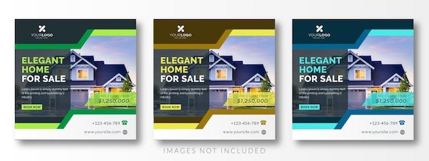 Baner reklamowy w mediach społecznościowych nieruchomości