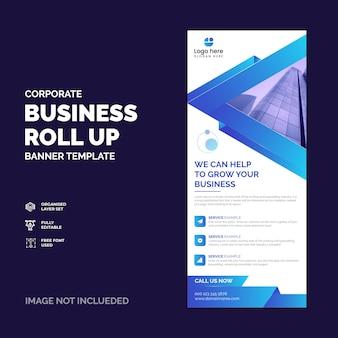Baner rollup firmy korporacyjnej lub wektor szablonu projektu xbanner