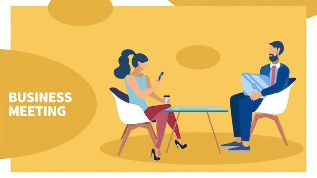 Baner rozmowy współpracowników