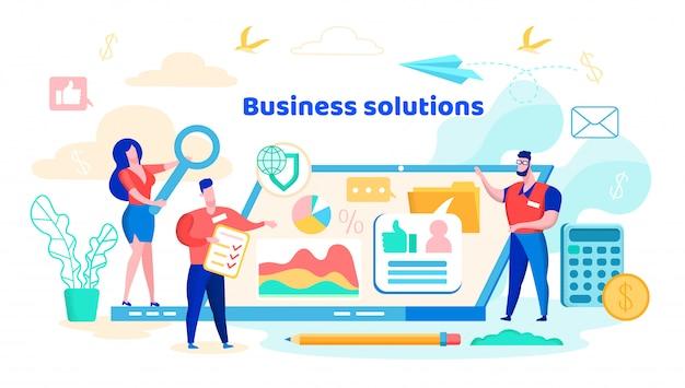 Baner rozwiązań biznesowych