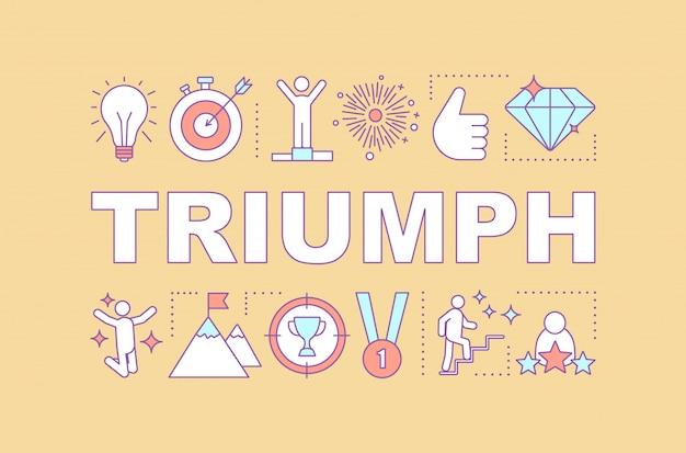 Baner słowa triumph