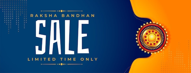 Baner sprzedaży bandhan raksha ze złotym rakhi