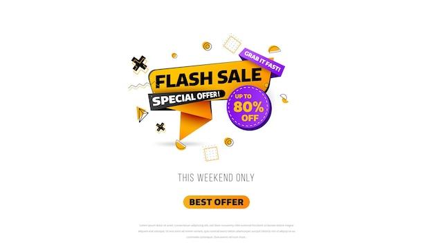 Baner sprzedaży flash. wyprzedaż jednodniowa, oferta specjalna, wyprzedaż. sprzedam projekt szablonu transparent, oferta specjalna duża wyprzedaż. super wyprzedaż, baner z ofertą specjalną na koniec sezonu. ilustracji wektorowych.