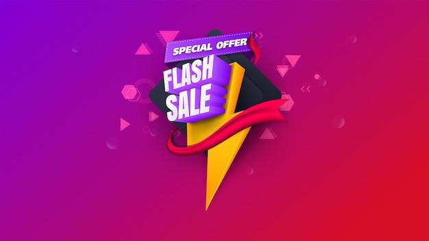 Baner sprzedaży flash. wyprzedaż jednodniowa, oferta specjalna, wyprzedaż. wyprzedaż projekt szablonu transparent, oferta specjalna duża wyprzedaż. super wyprzedaż, baner z ofertą specjalną na koniec sezonu. ilustracji wektorowych.