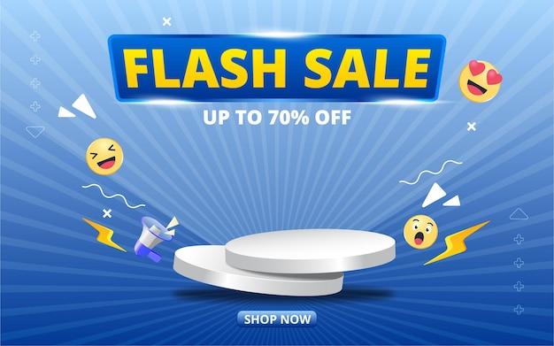 Baner sprzedaży flash z projektem szablonu podium