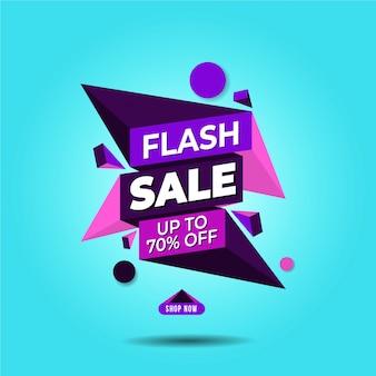 Baner sprzedaży flash