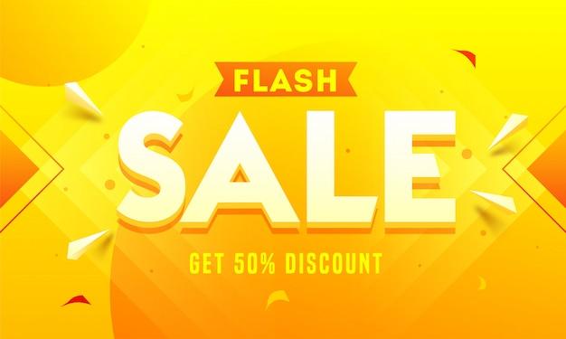 Baner sprzedaży flash.