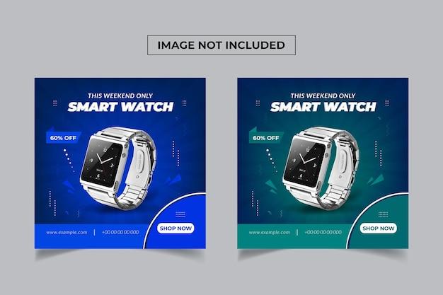 Baner sprzedaży inteligentnego zegarka w mediach społecznościowych