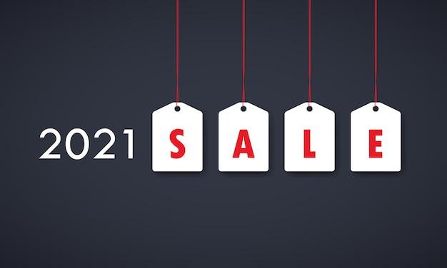 Baner sprzedaży lub tag rabatowy 2021 r.