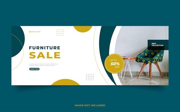 Baner sprzedaży mebli minimalistyczny