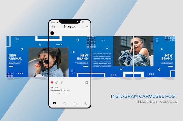 Baner sprzedaży mody dla mediów społecznościowych instagram karuzela premium