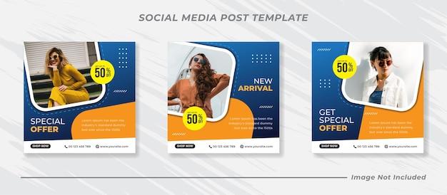 Baner sprzedaży mody dla szablonu postu w mediach społecznościowych