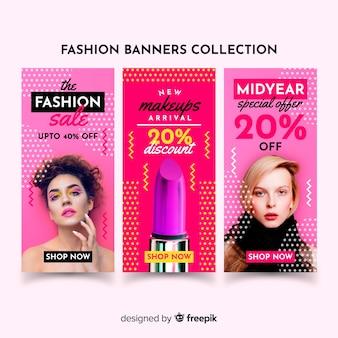 Baner sprzedaży mody