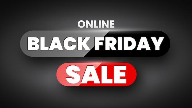 Baner sprzedaży online w czarny piątek.