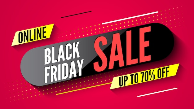 Baner sprzedaży online w czarny piątek