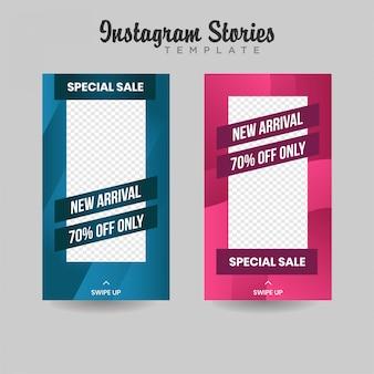 Baner sprzedaży szablonu instagram premium