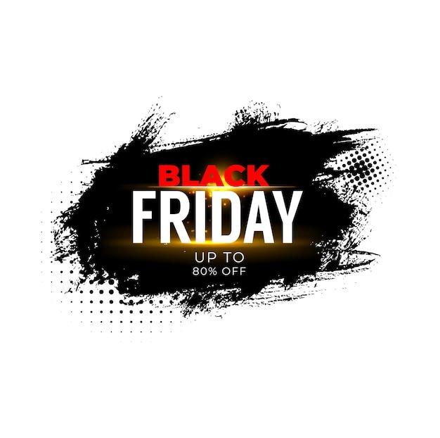 Baner sprzedaży w czarny piątek, promocja oferty rabatowej