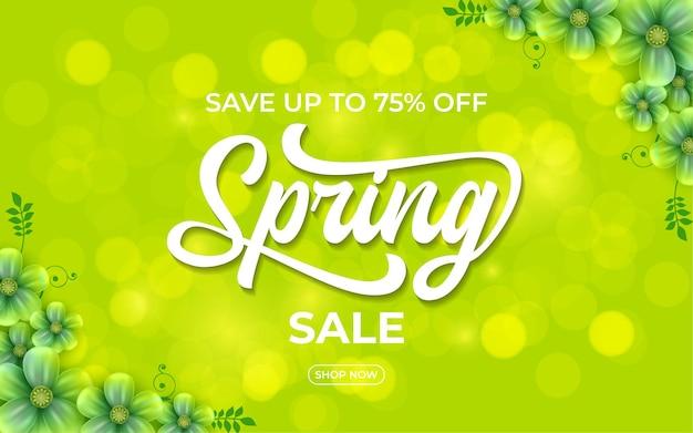 Baner sprzedaży wiosny