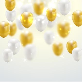 Baner strony uroczystość z złote balony