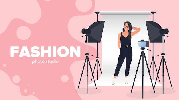 Baner studia fotograficznego mody