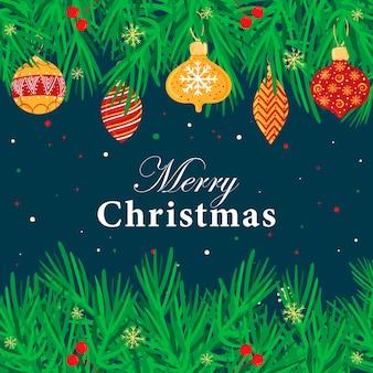 Baner świąteczny z dekoracjami