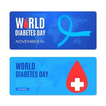 Baner światowego dnia cukrzycy