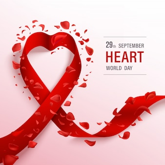 Baner światowego dnia serca.